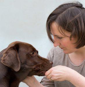 Photo of Eleanor Raffan and retriever